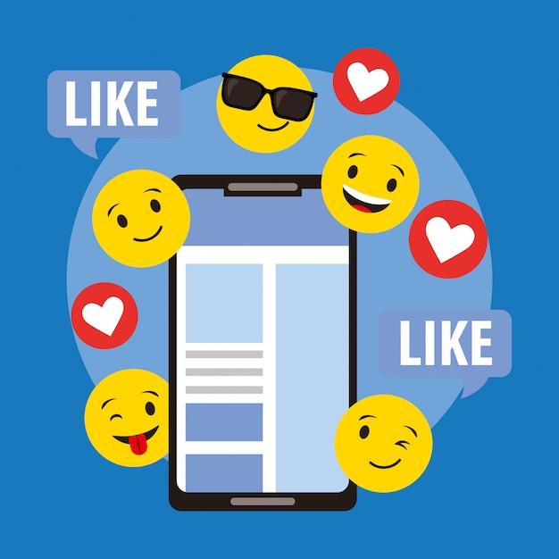 Emojis visage rond jaune Vecteur Premium