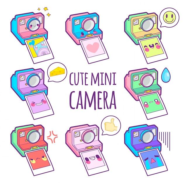 Émoticône Autocollant Caméra Vecteur Premium