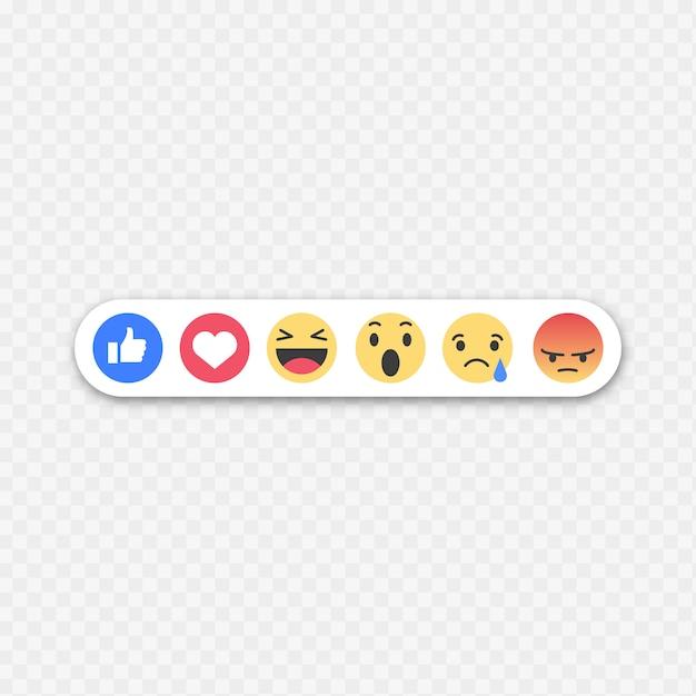 Émoticônes de Facebook Vecteur gratuit
