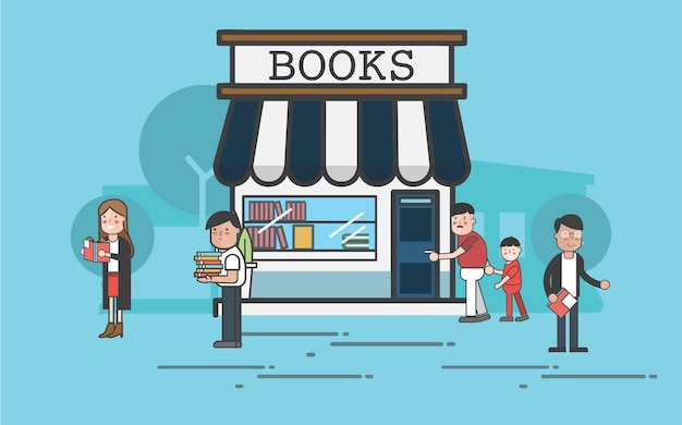 Emplacement De La Librairie Vecteur gratuit