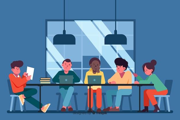 Employés De Bureau Ensemble Vecteur gratuit