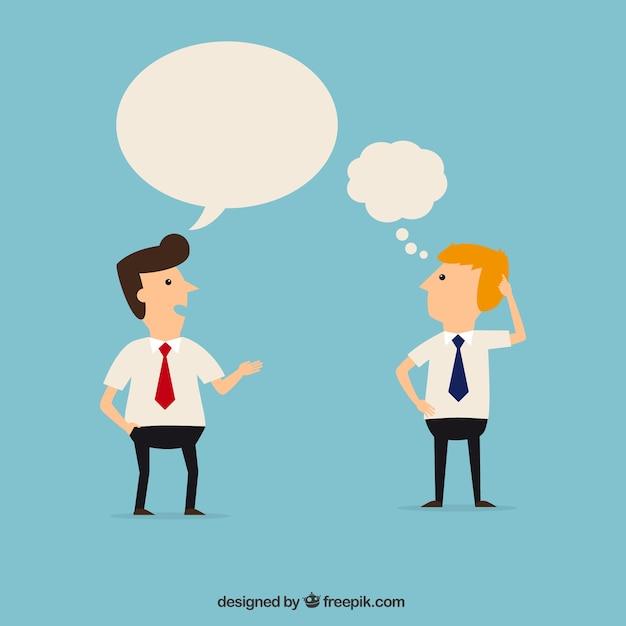 Les employés de bureau qui parlent Vecteur gratuit