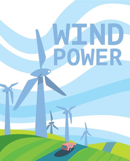 Énergie propre Vecteur Premium