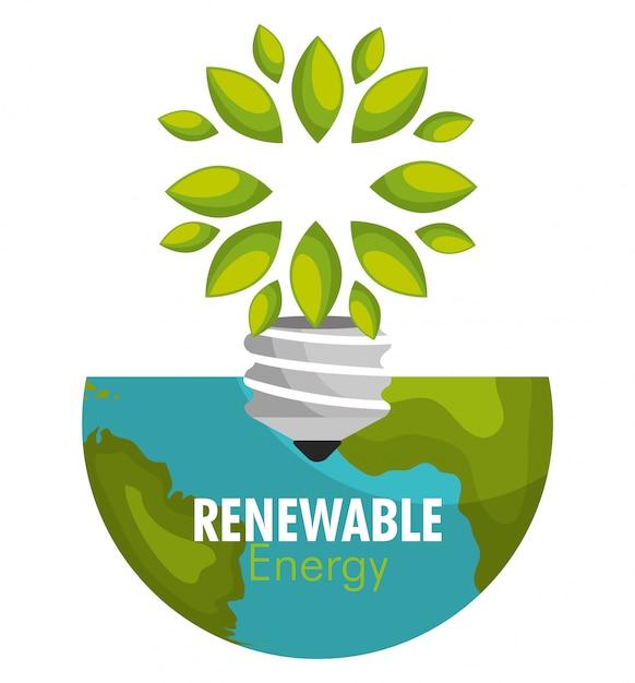 Énergie renouvelable Vecteur gratuit