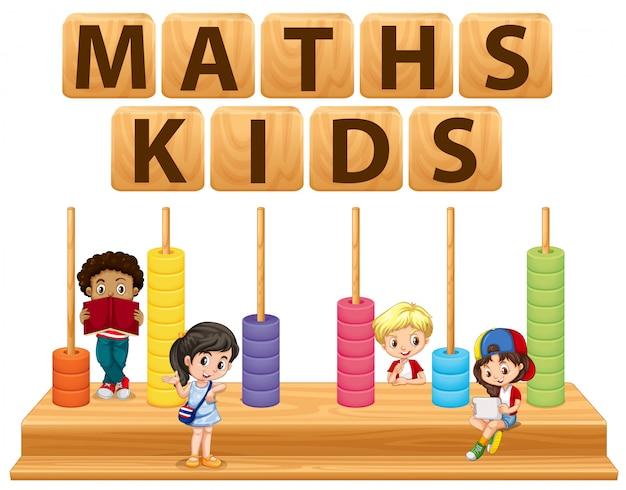 Enfants et jouets mathématiques Vecteur gratuit