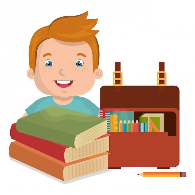 Les enfants qui étudient Vecteur gratuit