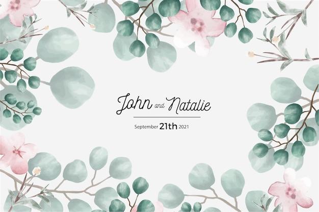 Enregistrez La Carte De Date, La Carte D'invitation De Mariage Vecteur gratuit