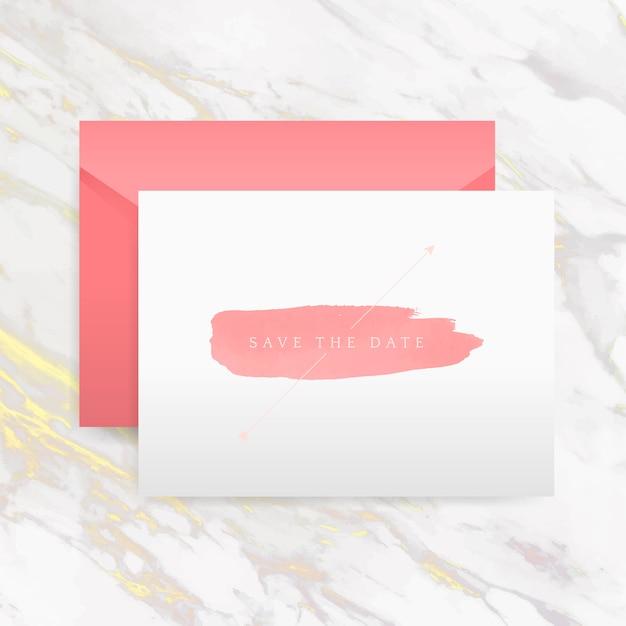 Enregistrez le vecteur de carte d'invitation de date Vecteur gratuit