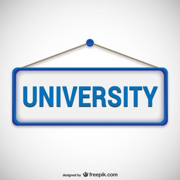 Enseigne Université Vecteur gratuit