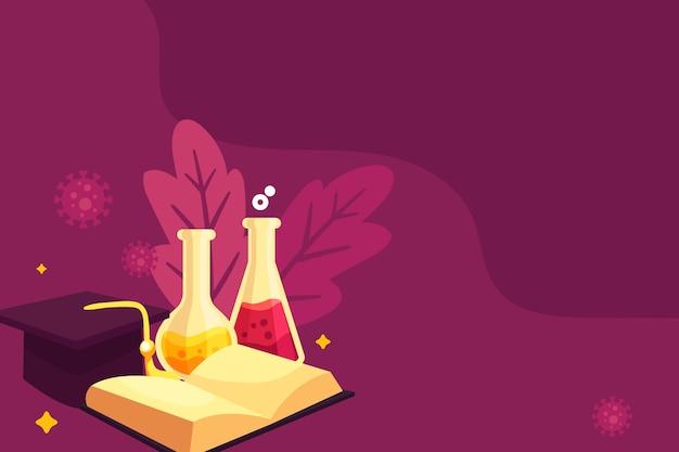 Enseignement Des Sciences Dessiné à La Main Avec Espace Copie Vecteur gratuit