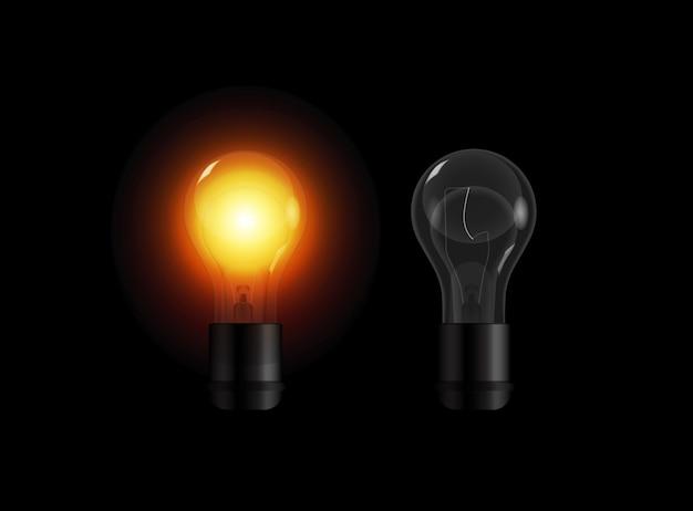 Ensemble D'ampoules Transparentes Réalistes Vecteur Premium