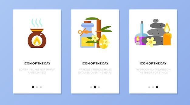 Ensemble D'applications D'écran Spa Things Vecteur gratuit