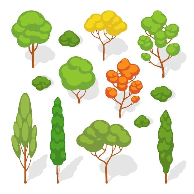 Ensemble des arbres vectoriels Vecteur Premium