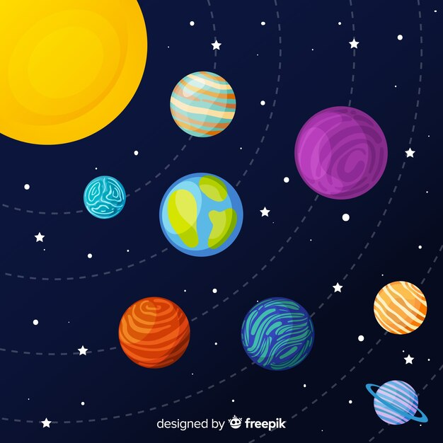 Ensemble D'autocollants De Planètes Dessinées à La Main Vecteur gratuit
