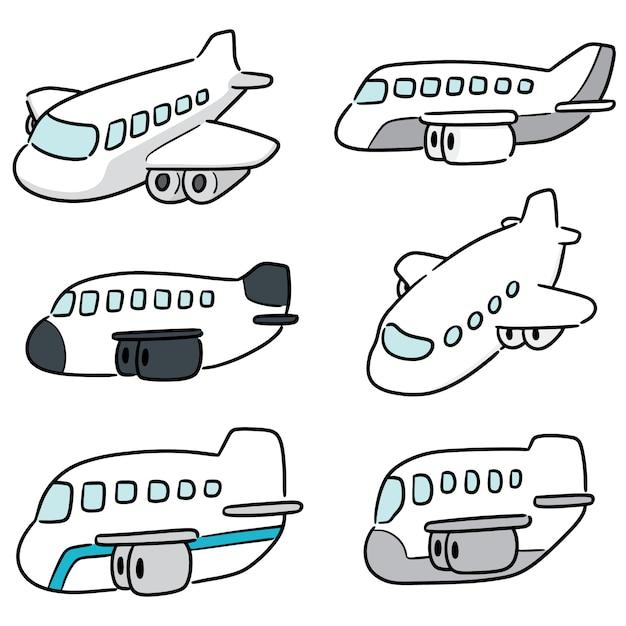Ensemble D'avion Vecteur Premium