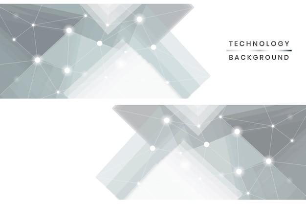 Ensemble de bannières de technologie Vecteur gratuit