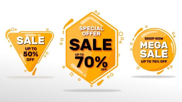 Ensemble de bannières de vente Vecteur Premium