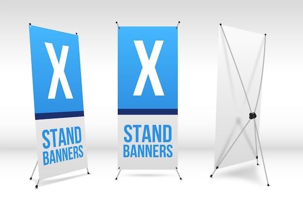 Ensemble De Bannières X Stand Vecteur Premium