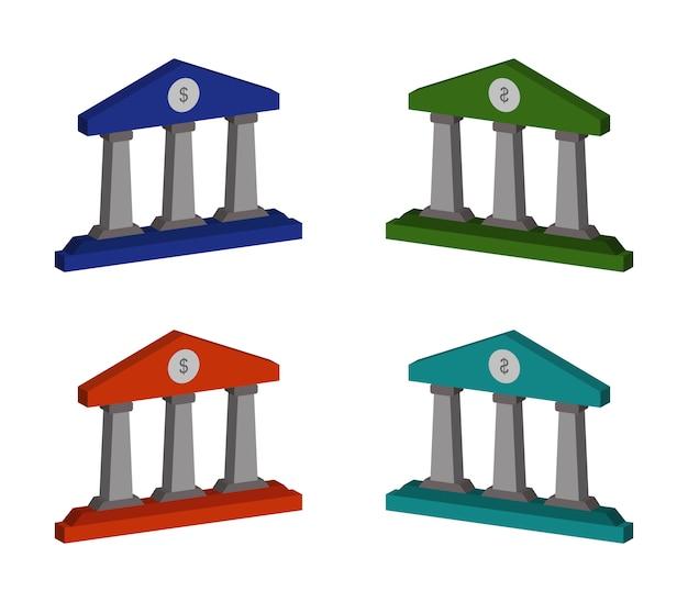 Ensemble De Banques Vecteur Premium