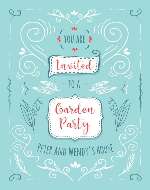 Ensemble de belles bannières florales. elément de design ou carte d'invitation Vecteur gratuit