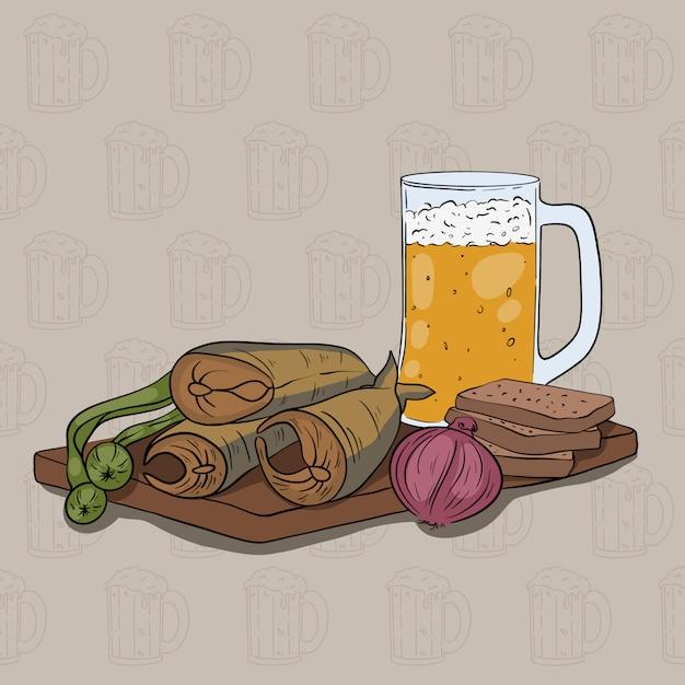 Ensemble de bière Vecteur Premium
