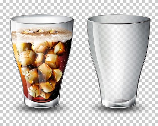 Ensemble de boisson gazeuse Vecteur Premium