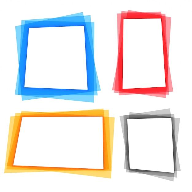 Ensemble de bordures de cadre géométrique coloré abstrait Vecteur gratuit