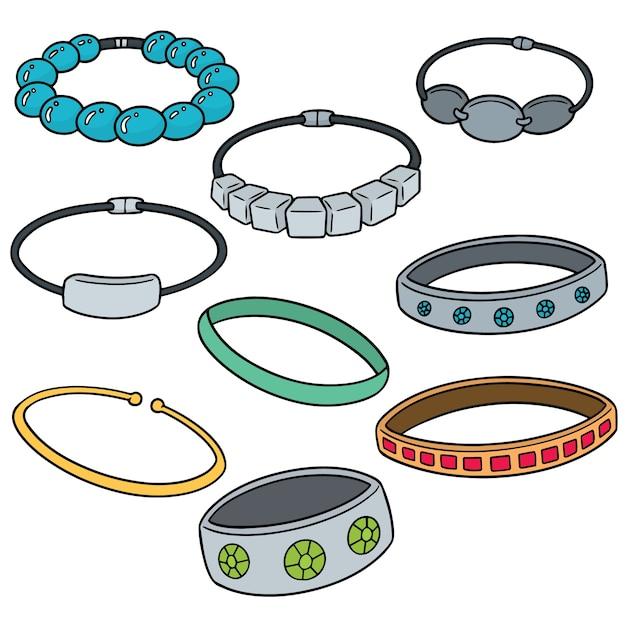 Ensemble de bracelet Vecteur Premium