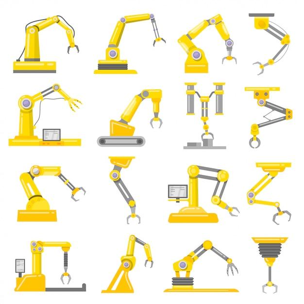 Ensemble bras mécanique Vecteur Premium