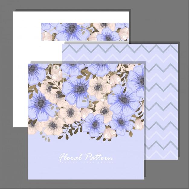 Ensemble de cadre floral avec des fleurs colorées. Vecteur gratuit