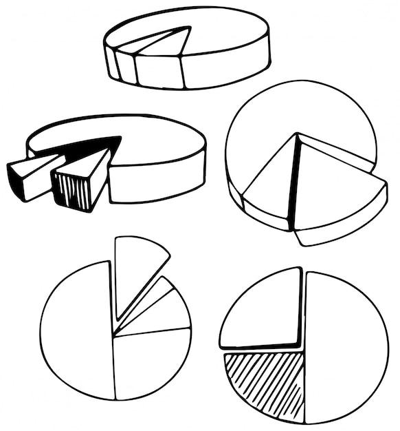 Un Ensemble De Camembert Doodle Vecteur Premium
