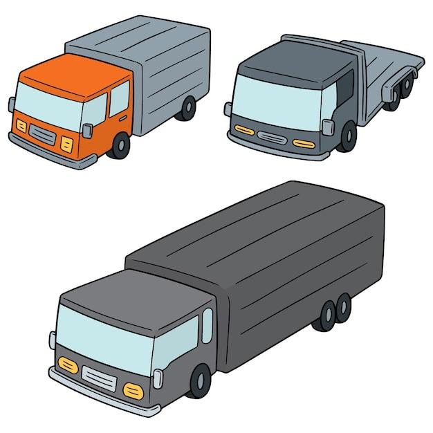 Ensemble de camion Vecteur Premium
