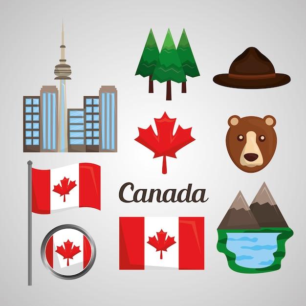 Ensemble De Canada Vecteur Premium