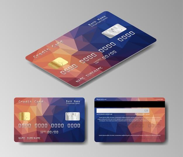 Ensemble De Carte De Débit. Jeu De Cartes De Crédit Vecteur Premium