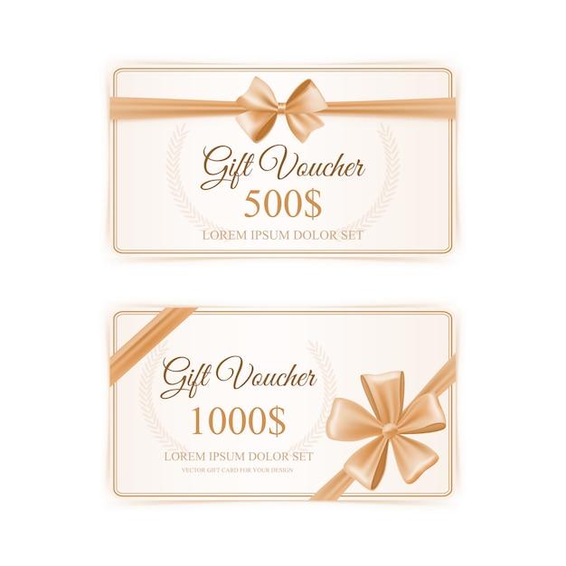 Ensemble de cartes-cadeaux élégantes Vecteur gratuit