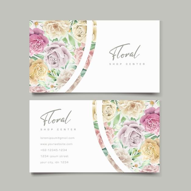 Ensemble De Cartes De Mariage Aquarelle élément Floral Vecteur gratuit