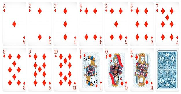 Ensemble de cartes de poker avec design de dos Vecteur gratuit