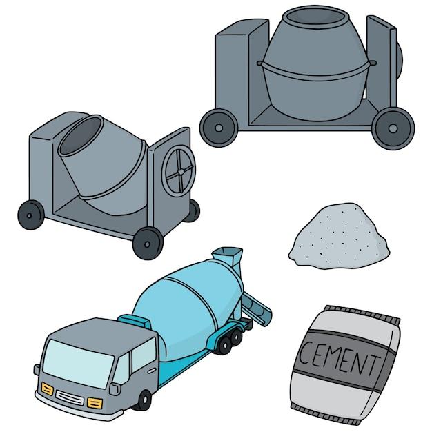 Ensemble De Ciment Vecteur Premium