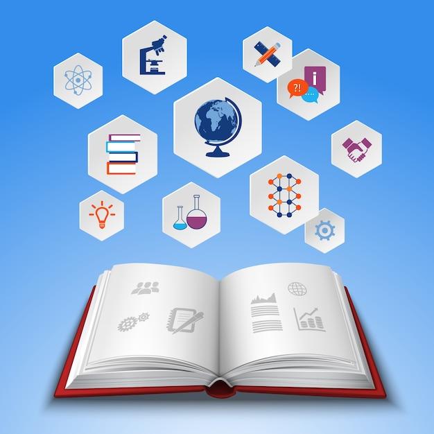 Ensemble De Concept D'éducation Vecteur gratuit