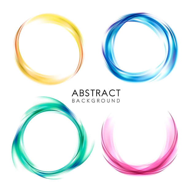 Ensemble de conception de fond abstrait coloré Vecteur gratuit