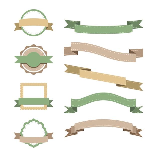 Ensemble de conception d'insigne pastel Vecteur gratuit