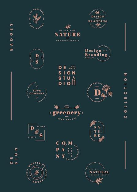 Ensemble de conception de logo Vecteur gratuit