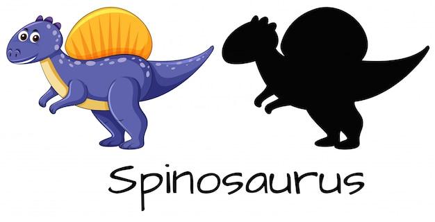 Ensemble de conception de spinosaurus Vecteur gratuit