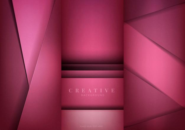 Ensemble de conceptions de fond créatif abstrait en rose foncé Vecteur gratuit