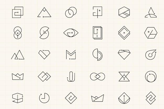 Ensemble de conceptions de logo minimales Vecteur gratuit