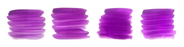 Ensemble De Coup De Pinceau Abstrait Peint à La Main Violet Vecteur gratuit