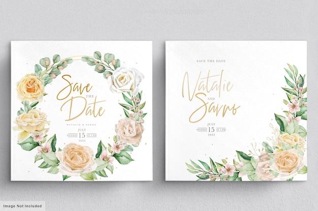 Ensemble De Couronnes Et Bouquets Floraux élégants Dessinés à La Main Aquarelle Vecteur Premium