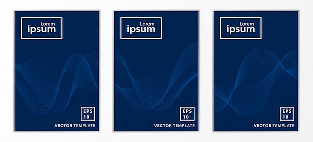 Ensemble de couverture de brochure d'affaires minimal Vecteur Premium