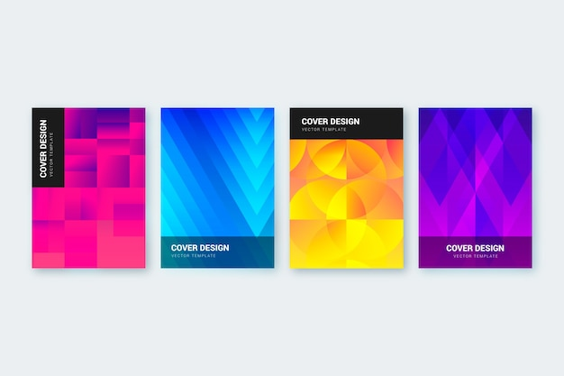 Ensemble De Couverture De Formes Dégradées Abstraites Vecteur gratuit