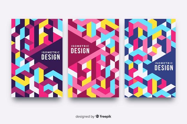 Ensemble de couvertures de conception géométrique Vecteur gratuit